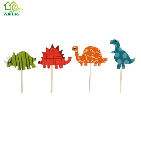 24 Piece Dinosaur Animal Party Cupcake Topper Picks