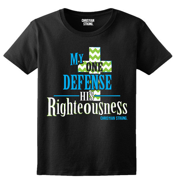 One Defense His Righteousness Christian T Shirt For Men
