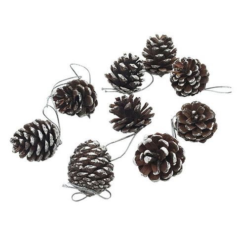 9 Piece Pine Cone Hanging Christmas Decoration Tree Ornaments