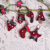 6 Pieces Mixed Christmas Tree Pendant Ornaments