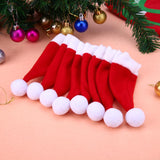 8pcs Christmas Caps Cutlery Holder Fork Spoon Pocket Christmas Decor