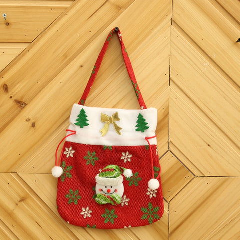 Christmas Snowman Gift Candy Bag