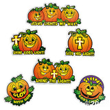Jesus Lights My Way Christian Pumpkin Cutouts Decorations