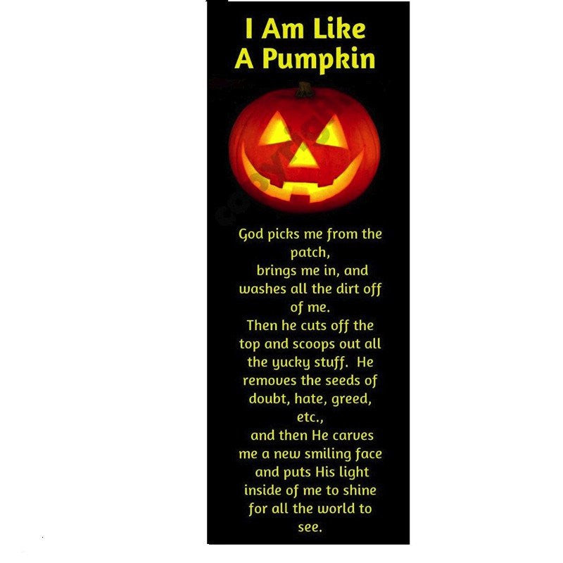 I Am Like A Pumpkin Prayer Bookmarks (100 Bookmarks)