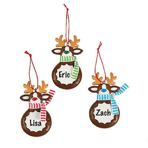 Reindeer Christmas Ornaments 12 Pack