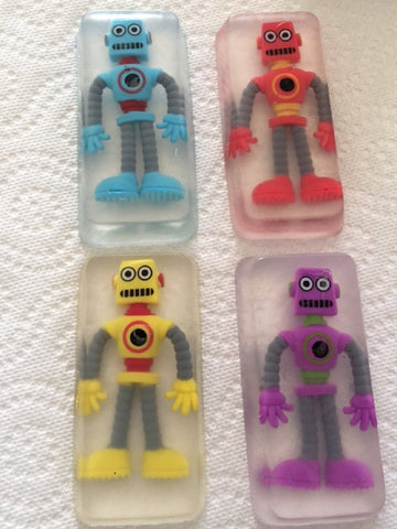 Toy Embedded Robot Soap Set Of 4