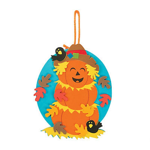 Scarecrow Stacked Pumpkin Ornament Craft Kit Makes 12