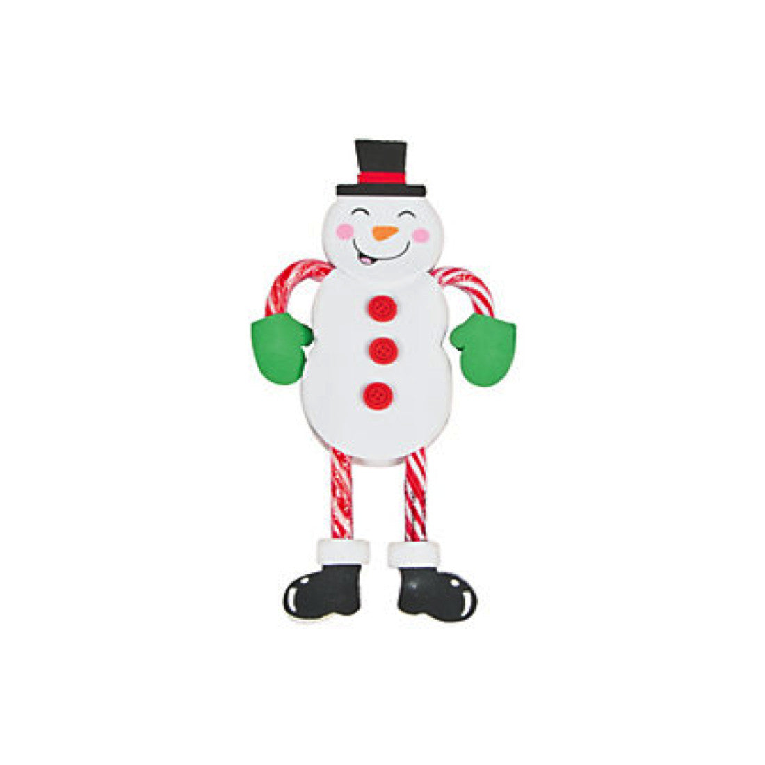 Snowman Candy Cane Character Craft Kit  - Makes 12 Ornaments