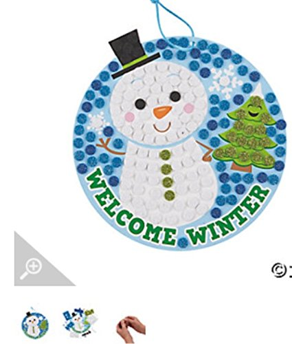 Snowman Glitter Mosaic Sign Craft Kit
