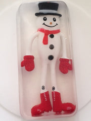 Toy Embedded Frosty Snowman Christmas Soap