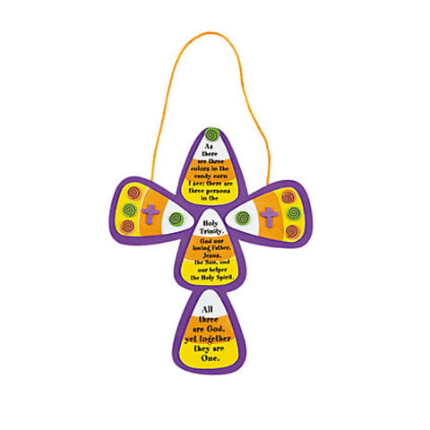 Candy Corn Trinity Cross Craft Kit