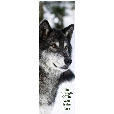 Strength of The Wolf Wolves Bookmarks (Pack of 50)