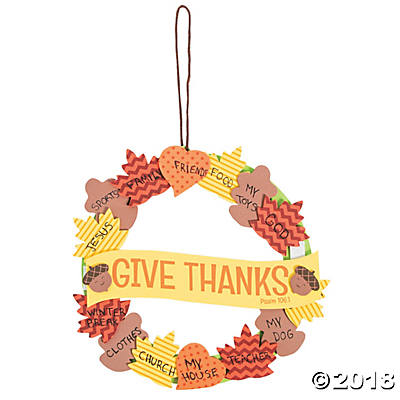 Wreath of Thanks Foam Religious Crafts for Kids - Makes 12
