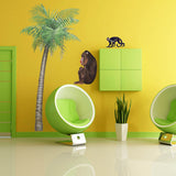 Jungle animal mural, babbon wall sticker example