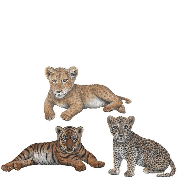 Lion Leopard Amp Tiger Cub Combo Pack Jungle Animal Wall
