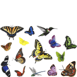 Butterfly Collection Animal Wall Decals Stickers