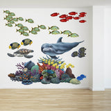 Coral Reef Tropical Fish Mural Wall Decal Sticker Combo
