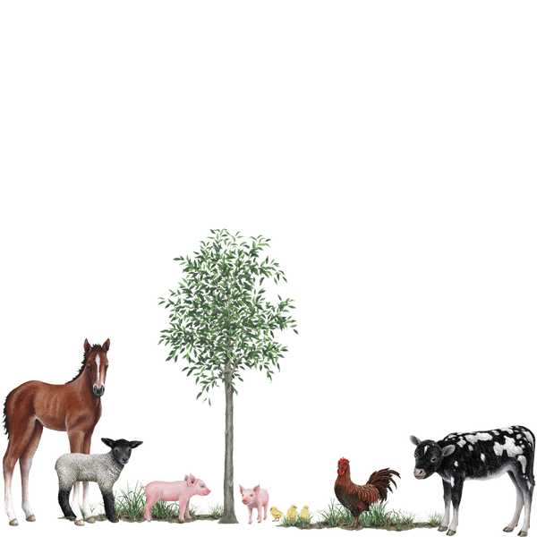 Farm Animals Collection Wall Decals Stickers