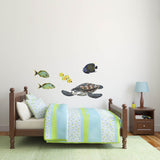French Angelfish Sea Life Wall Decal Sticker