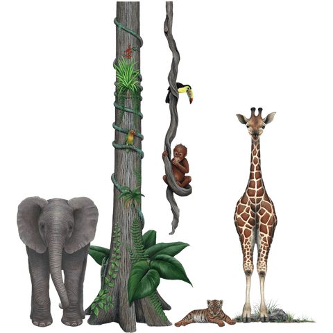 Jungle Wildlife Collection Animal Decals Stickers Combo