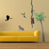 Leopard Cub Jungle Animal Wall Decal Sticker
