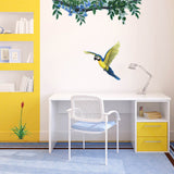 Macaw Jungle Animal Wall Decal Sticker