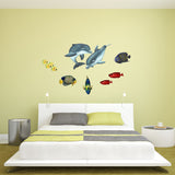Playful Baby Dolphins Sea Life Wall Decal Sticker