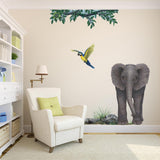Rock Grass Plant Wall Decal Sticker