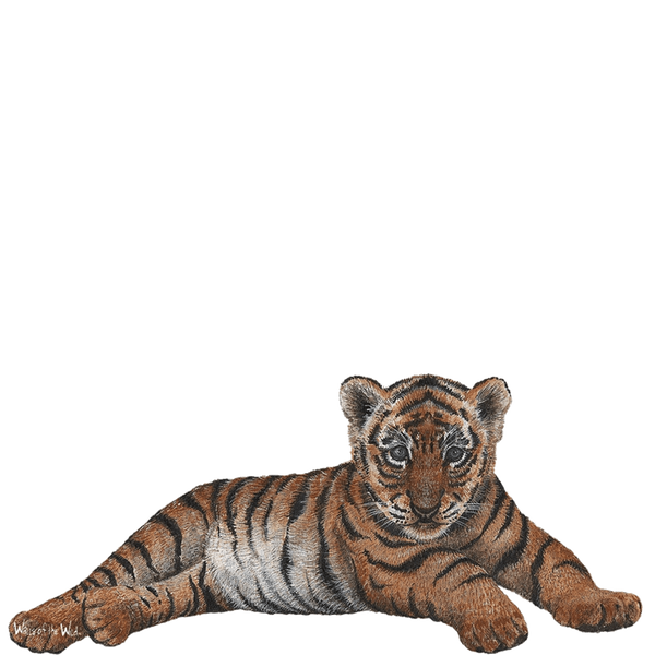 Tiger Cub Jungle Animals Wall Decal Sticker