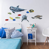 Tropical Fish and Sea Creatures Collection Economy Size Wall Decals Stickers