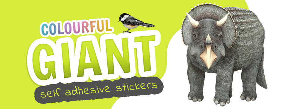 Colourful Giant Self Adhesive Stickers