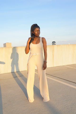 Tie Linen Jumpsuit-FINAL SALE