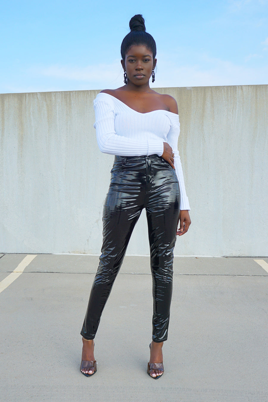 Patent Vinyl Pants - FINAL SALEClothes, BottomsGreige - Greige
