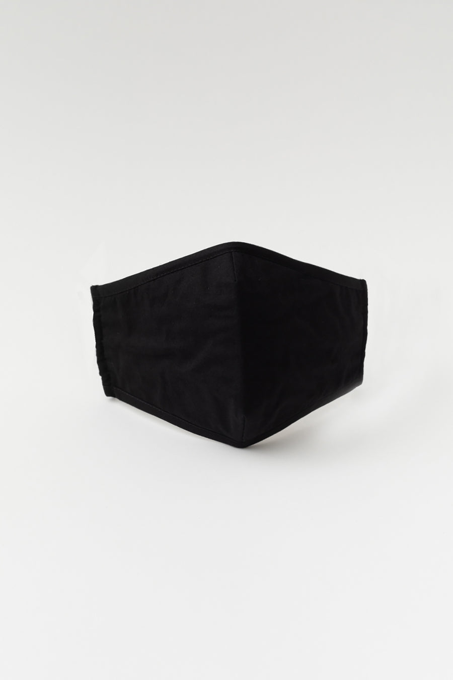black elastic face mask with filter pocket