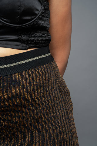 Shimmer Metallic Skirt-FINAL SALEClothes, SkirtsGreige - Greige