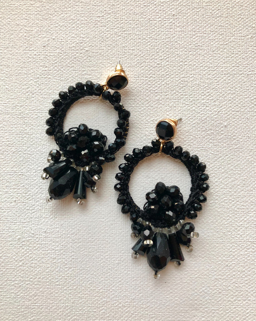 Beaded Onyx EarringsAccessories, EarringsGreige - Greige