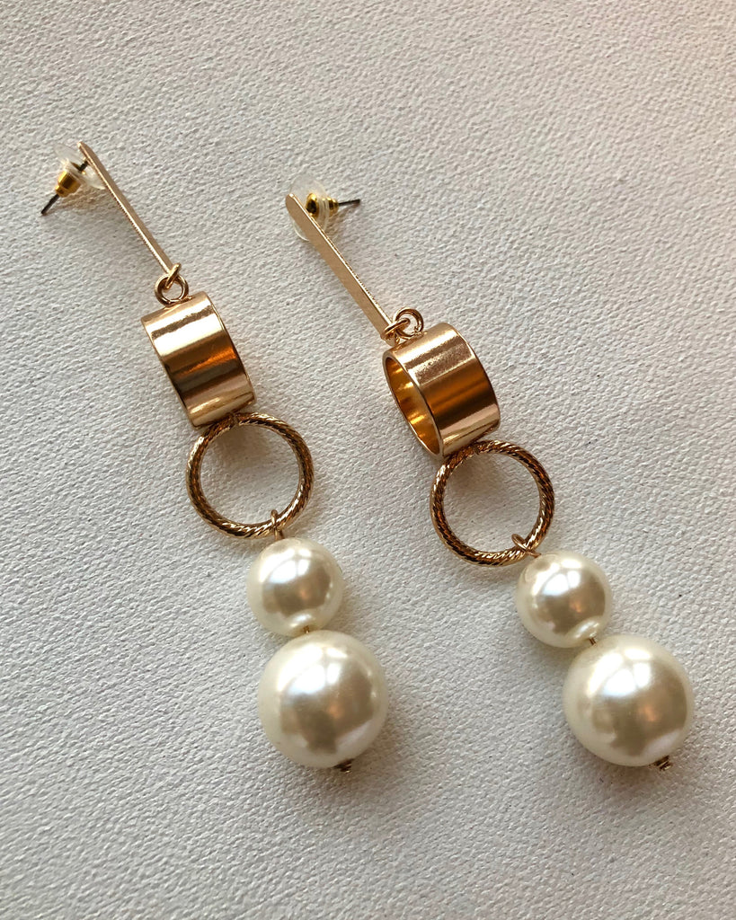 Pearl Drop EarringsAccessories, EarringsGreige - Greige