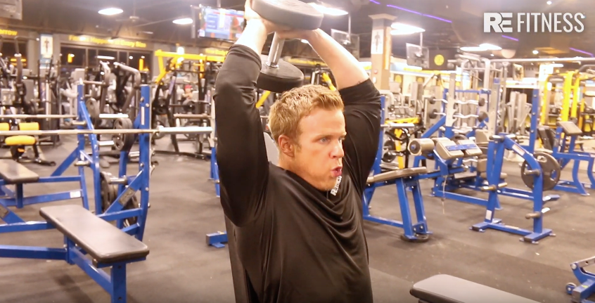 HOW TO DO TRICEP DUMBBELL OVERHEAD PRESS