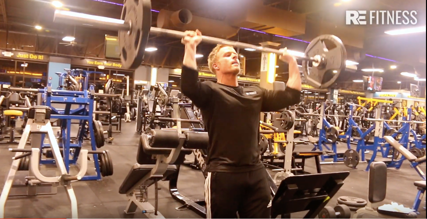 HOW TO DO STANDING MILITARY SHOULDER PRESS