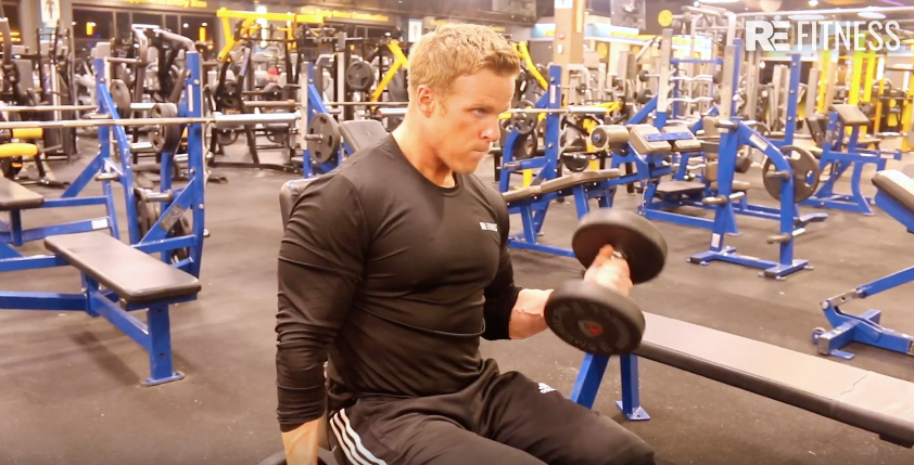 HOW TO DO SEATED DUMBBELL CURLS