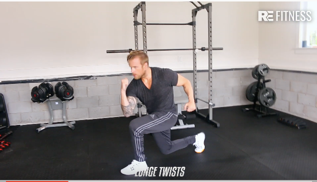HOW TO DO A LUNGE TWIST