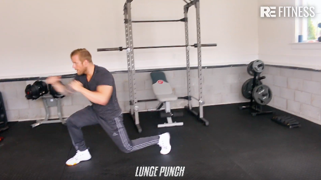 HOW TO DO A LUNGE PUCH