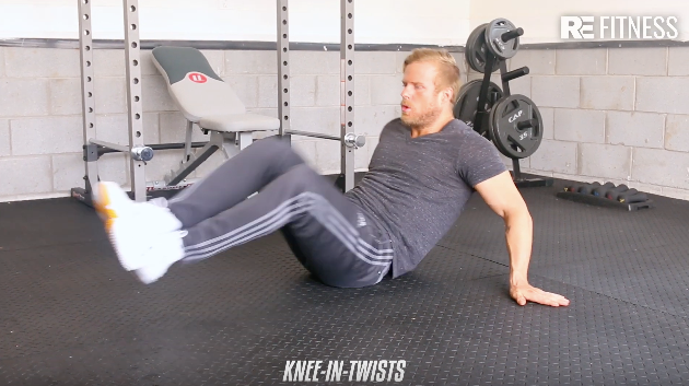 HOW TO DO A KNEE-IN-TWIST