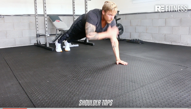 HOW TO DO SHOULDER TAPS