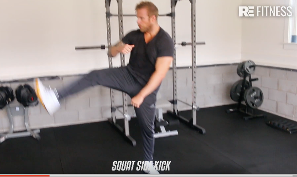HOW TO DO A SQUAT SIDE KICK