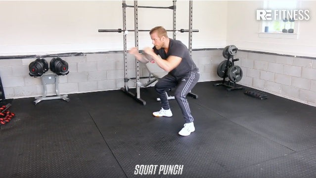 HOW TO DO A SQUAT PUNCH