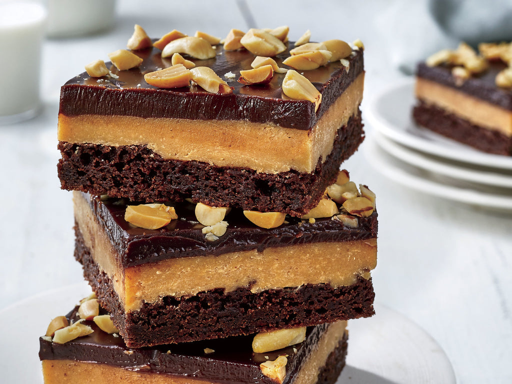 HIGH PROTEIN PEANUT BUTTER FUDGE SQUARES