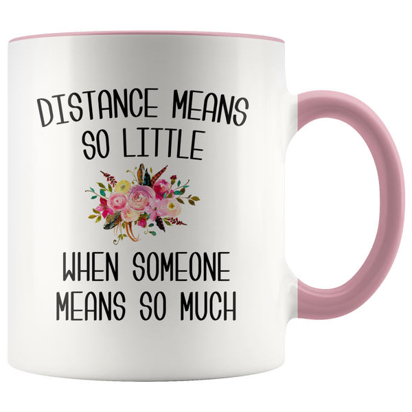 Long Distance Mug Long Distance Relationship Mothers Day Mug Mother and Daughter Moving Far Away Parent Floral Coffee Cup