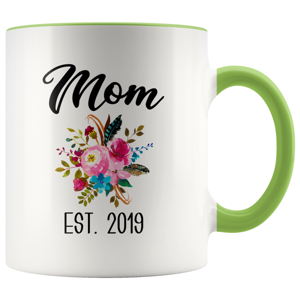 New Mom Mug Expecting Mommy to Be Gifts Baby Shower Gift Pregnancy Announcement Coffee Cup Mom Est 2019