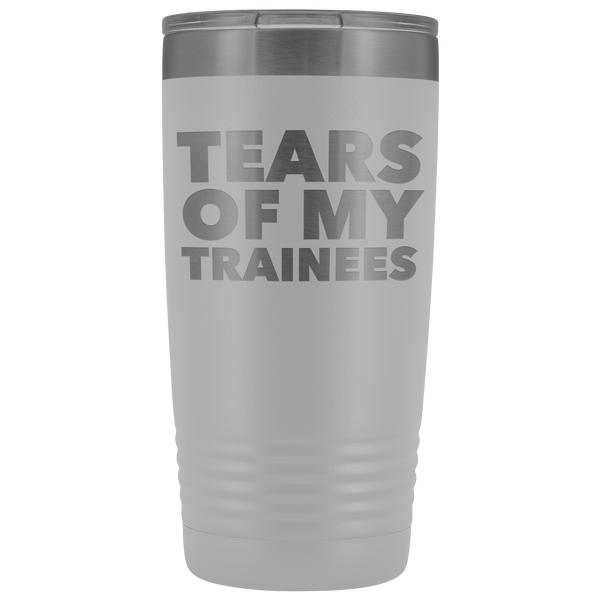 Best Work Trainer Ever Gifts Tears of My Trainees Tumbler Funny Metal Office Mug Coworker Insulated Hot Cold Travel Coffee Cup 20oz BPA Free
